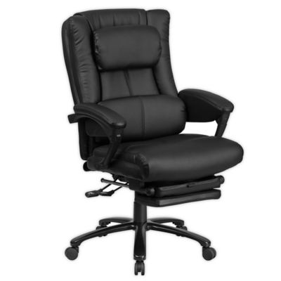 flash furniture reclining chair with lumbar support in black