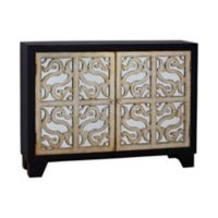 Pulaski Finesse Metallic Grille Mirrored Door Console
