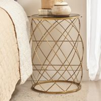 Pulaski Convex Accent Drum Table in Gold