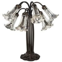 Lily 10-Light Downlight Accent Lamp with Mercury Glass Shades in Silver