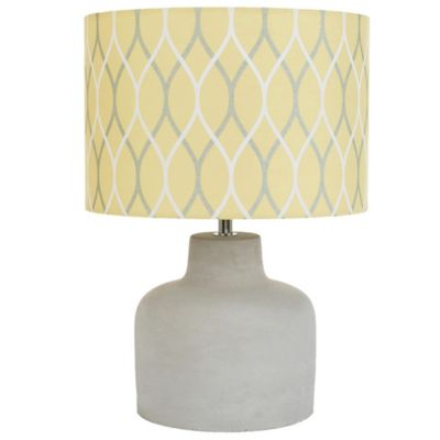 Yellow Fabric and Grey Concrete Table Lamp - Buy Yellow Lamp Base From Bed Bath & Beyond