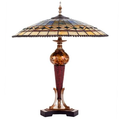 River Of Goods Impressionist Geo Table Lamp