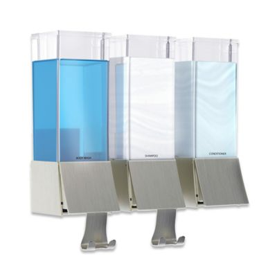 bargain trio with draco miss soap mounted dispenser shop this refillable shower wall bottles t dispensers shampoo silver don