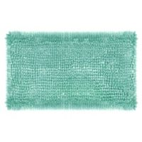 Laura Ashley® Butter Chenille 27-Inch x 45-Inch Bath Rug in Aqua