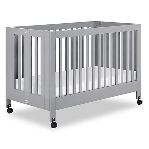 Beautiful Babyletto Maki Full Size Portable Crib In Grey