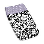 Sweet Jojo Designs Sloane Changing Pad Cover in Purple/White