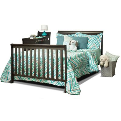 conversion rails u003e sorelle florence crib and changer adult rail in espresso - Sorelle Cribs