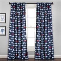 Race Cars 84-Inch Room Darkening Rod Pocket Window Curtain Panel Pair