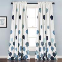 Flying Balloon 84-Inch Room Darkening Rod Pocket Window Curtain Panel Pair in Blue