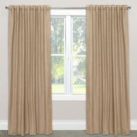 Skyline Furniture Skyline Linen-Blend 63-Inch Rod Pocket/Back Tab Window Curtain Panel in Sandstone