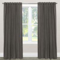 Skyline Furniture Skyline Linen-Blend 108-Inch Rod Pocket/Back Tab Window Curtain Panel in Slate