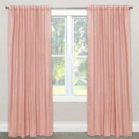 Skyline Furniture Skyline Linen-Blend 108-Inch Rod Pocket/Back Tab Window Curtain Panel in Petal