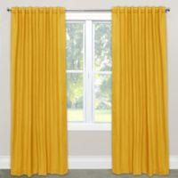Skyline Furniture Skyline Linen-Blend 120-Inch Rod Pocket/Back Tab Window Curtain Panel in Yellow