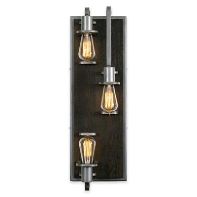 Wall Sconces Bed Bath Beyond : Lofty 3-Light Wall Sconce - Bed Bath & Beyond