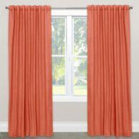 Skyline Furniture Skyline Linen-Blend 108-Inch Rod Pocket/Back Tab Window Curtain Panel in Nectar