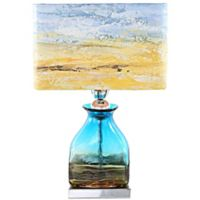 River of Goods Impressionist Table Lamp with Hand Painted Shade in San Diego