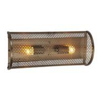 Varaluz® 2-Light Lit-Mesh Test Vanity Light in New Bronze