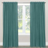 Skyline Furniture Skyline Linen-Blend 108-Inch Rod Pocket/Back Tab Window Curtain Panel in Laguna