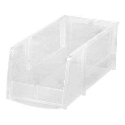 Iris USA® Large Clear Storage Bins (Set Of 8)