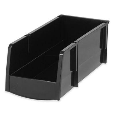 iris usa large storage bins in black set of 8