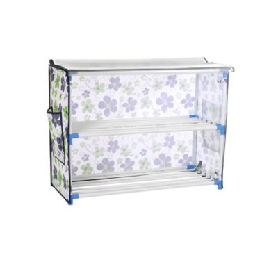 bonita 2tier shoe rack with cover in blue