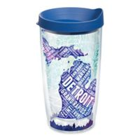 Tervis® American Pride Michigan Typography Map 16 oz. Wrap Tumbler with Lid