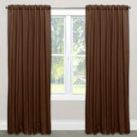 Skyline Furniture Skyline 63-Inch Rod Pocket Room Darkening Window Curtain Panel in Chocolate