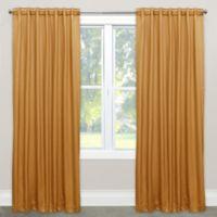 Skyline Furniture Skyline 84-Inch Rod Pocket/Back Tab Room Darkening Window Curtain Panel in Gold