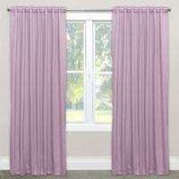 Skyline Furniture Skyline 84-Inch Rod Pocket/Back Tab Room Darkening Window Curtain Panel in Lilac