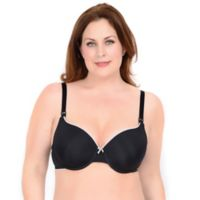 Nadia Size 44DDD Molded Micro T-Shirt Nursing Bra in Black