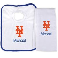 Designs by Chad and Jake MLB New York Mets Bib and Burp 2-Piece Set