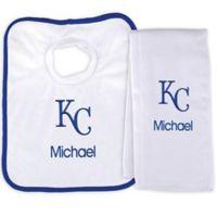Designs by Chad and Jake MLB Kansas City Royals Bib and Burp 2-Piece Set