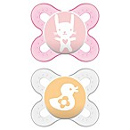 MAM Start Newborn 2-Pack Pacifiers in Pink/Clear