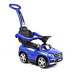 Licensed Mercedes 4-in-1 AMG Push Car in Blue