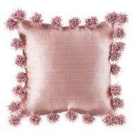 Glenna Jean Maddie Pom Pom Throw Pillow in Pink