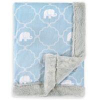 Hudson Baby® Plush Elephant Blanket in Blue