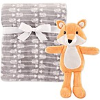 Hudson Baby® Fox Blanket and Toy Set Grey
