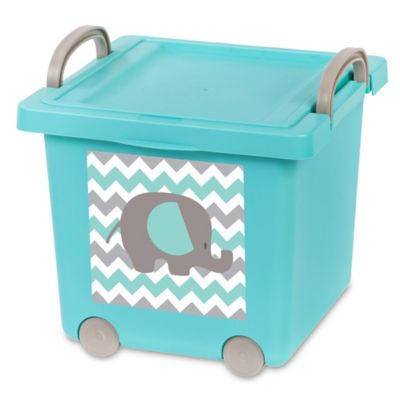 Iris USA® 4 Pack Baby Toy Storage Boxes In Blue