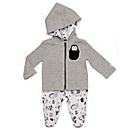 Boppy® Newborn 2-Piece Alpha Cardigan and Pant Set in Grey