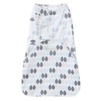 HALO® SwaddleSure™ Small Leaf Adjustable Swaddling Pouch in White/Blue