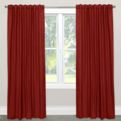 skyline furniture solid 96inch rod pocket room darkening window curtain panel in antique red