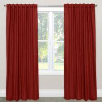 Skyline Furniture Solid 120-Inch Rod Pocket Room Darkening Window Curtain Panel in Antique Red