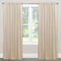 Skyline Solid Room Darkening 120-Inch Rod Pocket/Back Tab Window Curtain Panel in Parchment