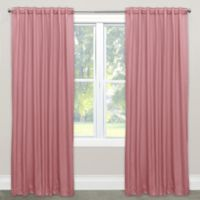 Skyline Solid Room Darkening 84-Inch Rod Pocket/Back Tab Window Curtain Panel in Wood Rose