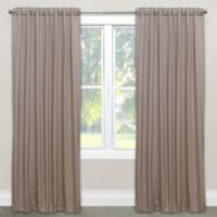 Skyline Solid Room Darkening 84-Inch Rod Pocket/Back Tab Window Curtain Panel in Dove