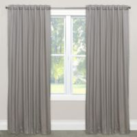 Skyline Solid Room Darkening 96-Inch Rod Pocket/Back Tab Window Curtain Panel in Silver
