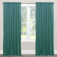 Skyline Solid Room Darkening 63-Inch Rod Pocket/Back Tab Window Curtain Panel in Peacock