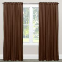 Skyline Solid Room Darkening 108-Inch Rod Pocket/Back Tab Window Curtain Panel in Chocolate