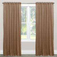 Skyline Solid Room Darkening 108-Inch Rod Pocket/Back Tab Window Curtain Panel in Khaki