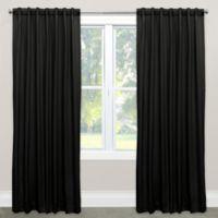 Skyline Solid Room Darkening 96 Inch Rod Pocket Back Tab Window Curtain Panel In